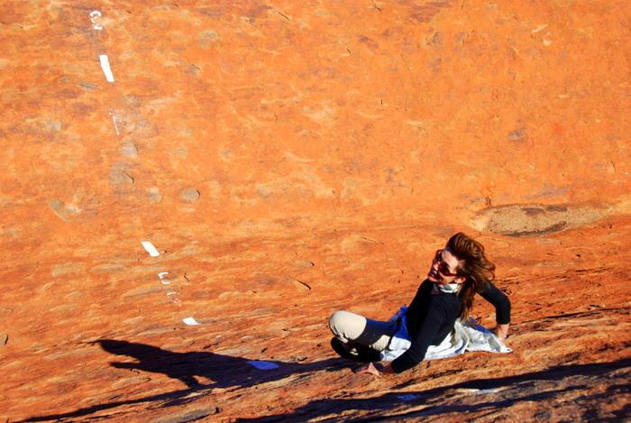 Descending Uluru
