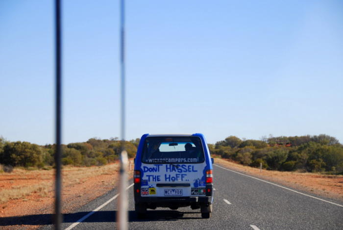 On the road to Yulara.