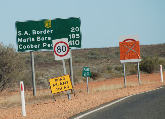 Approaching the South Australian border.