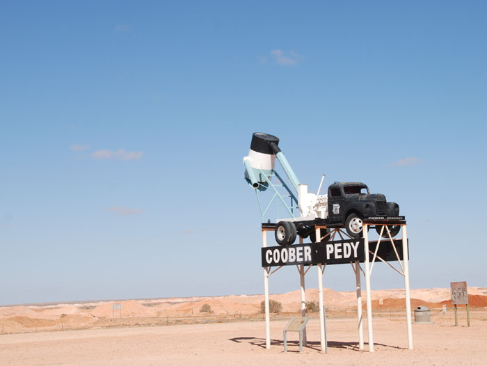 On the Stuart Highway entrance to Coober Pedy.