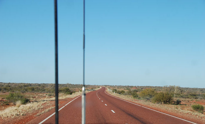 Heading south on the Stuart Highway.