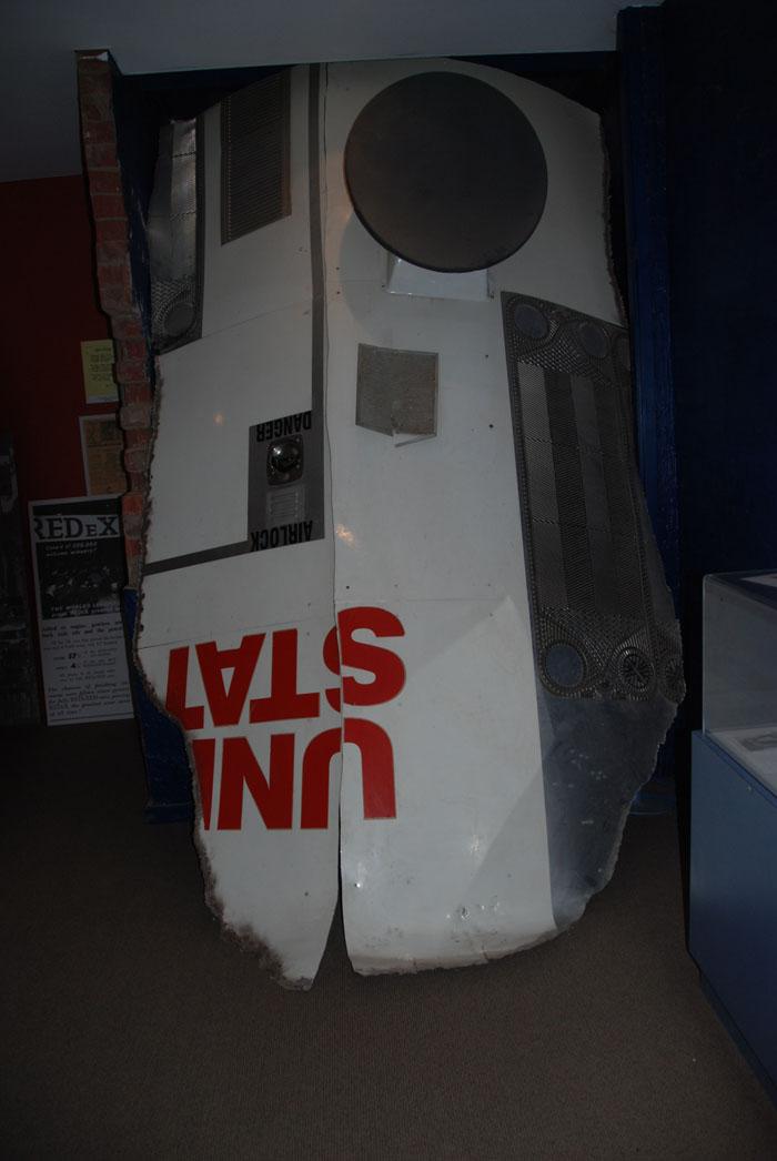 Part of Skylab at Balladonia Museum.