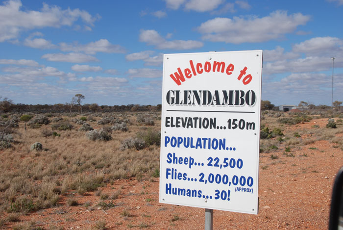 Welcome to Glendambo.