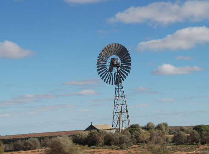 Windmill at Kingoonya.