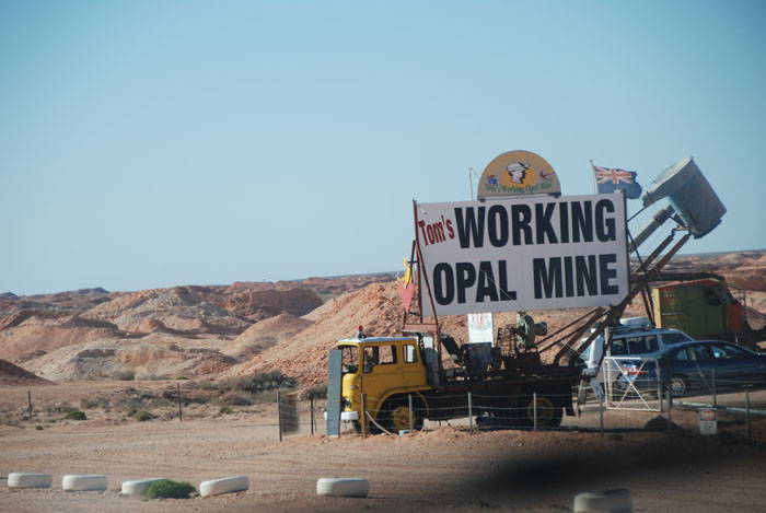 Tom's working opal mine.