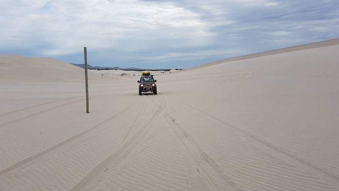 Adi on dunes.