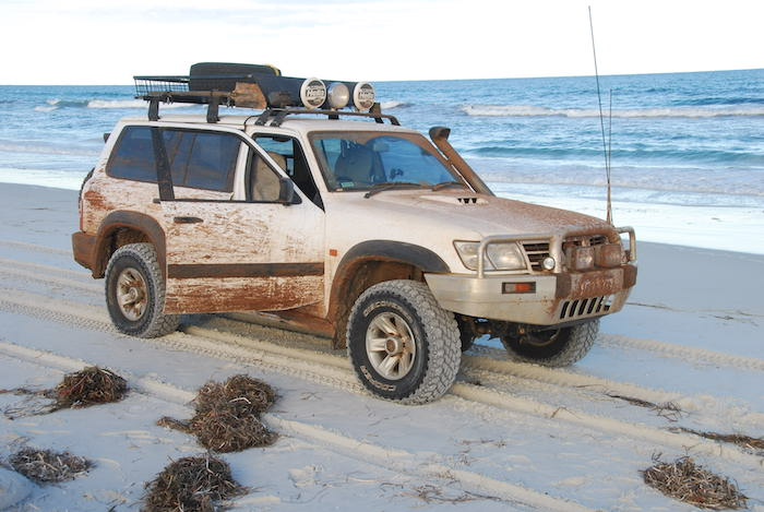 Patrol on Bilbunya Beach, 250 km north-east of Esperance in the Nuytsland Nature Reserve.