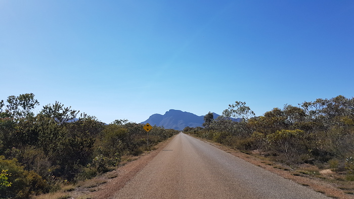 Bluff Knoll as seen on the road in.