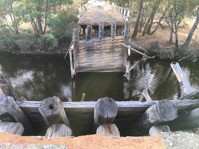 The old bridge no longer spans the river.