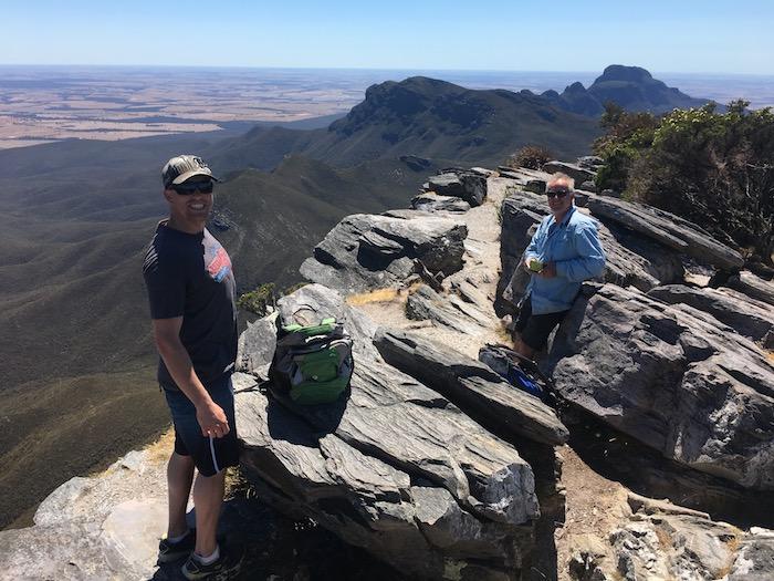 Dan and Scott at the summit.
