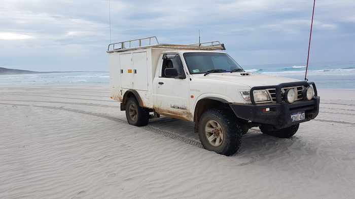 Patrol at Hamersley River Beach, near Fitzgerald River National Park. The mouth of the river and associated camping area are on a portion of land excised from the National Park.