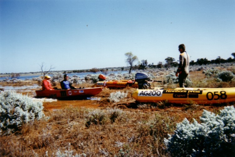 Beach landing on the 'margin' of Lake Boonderoo, 280 km east of Kalgoorlie.