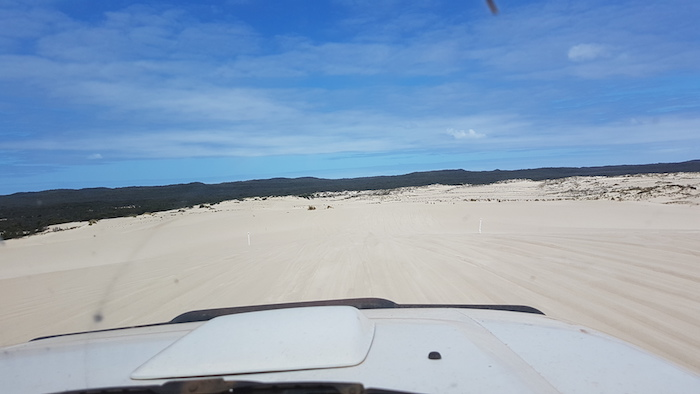 Returning over Yeagarup Dunes.