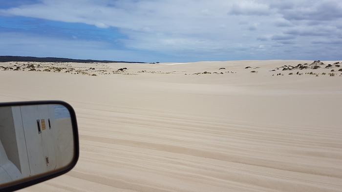 Crossing Yeagarup Dunes.