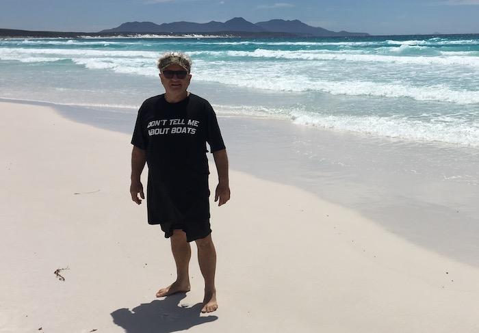 Phil at St Mary Beach.