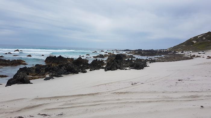 Rocks at end of Hamersley Beach.
