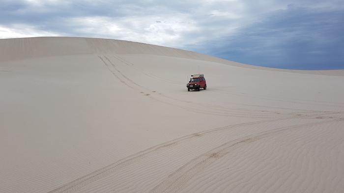 Scott on dunes.