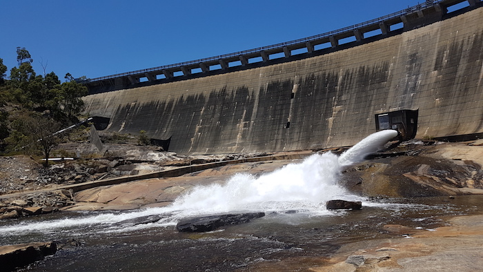 The scouring of Wellington Dam is mainly to keep the river below it healthy.
