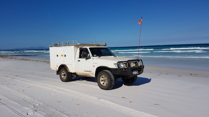 Kim's Patrol on Tooregullup beach.