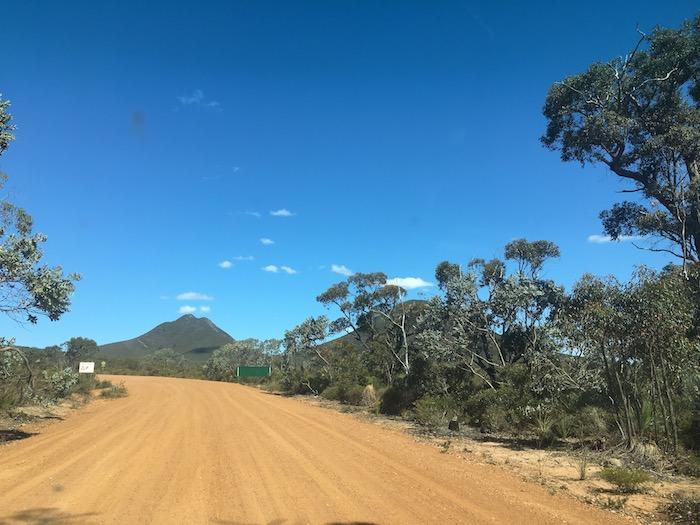 Western entrance to Stirling Range National Park.