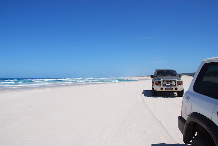 Patrol and F Truck on Yeagarup Beach, D'Entrecasteaux
