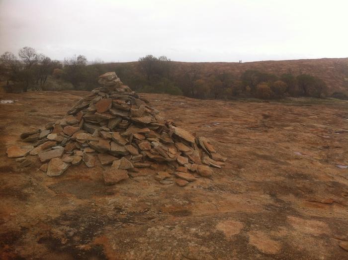 Cairn on the top of Yorkrakine Rock.