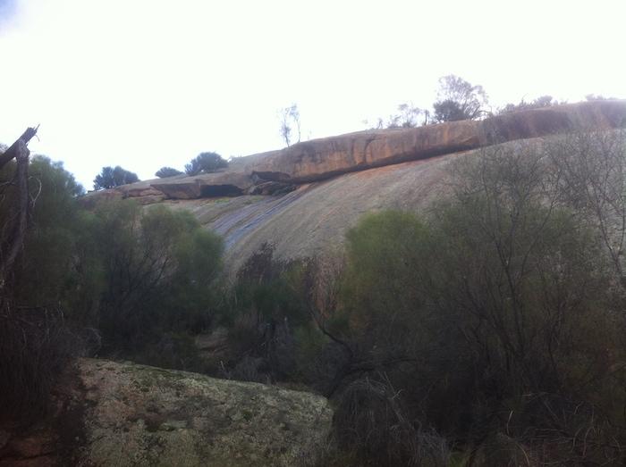 Climbing Yorkrakine Rock.