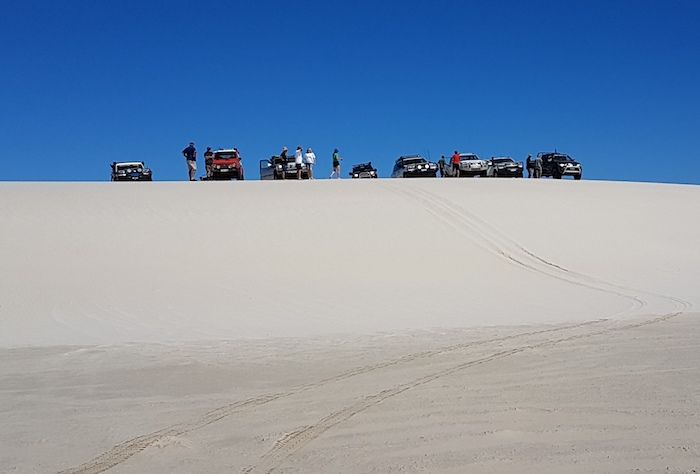 Lineup on the Reef Beach dunes.