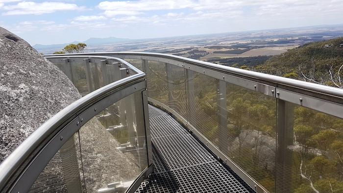 The Granite Skywalk on Castle Rock.