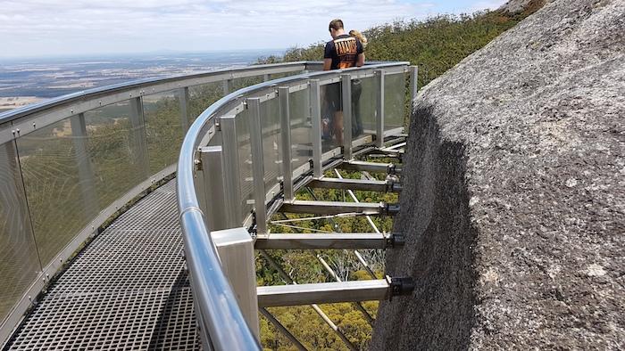 End of the Granite Skywalk.