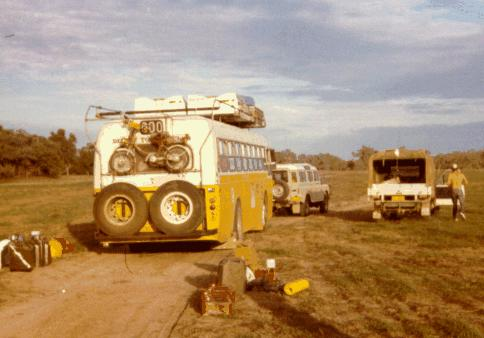 The bus is towed from the station out to the road.