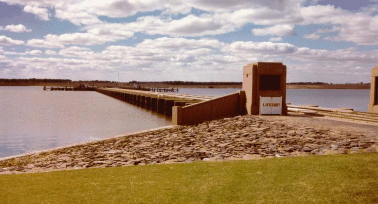 The barrage lock at Goolwa.