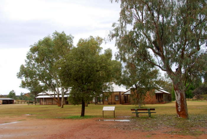 The old telegraph station at Alice Springs.