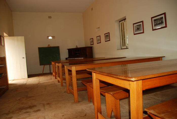 Inside the dormitory.