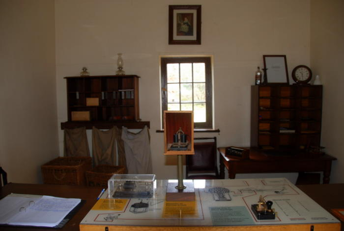 Displays inside Stationmaster's house.