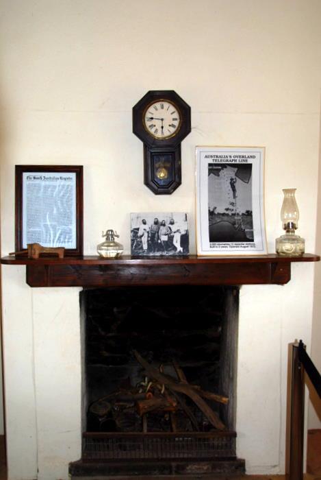 Inside Stationmaster's house.