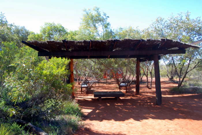 Shelter in the Desert Park.