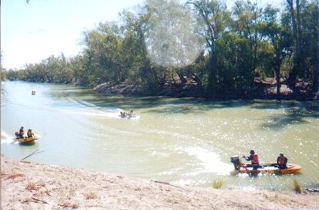 Arriving at the turnaround point on the Darling River.