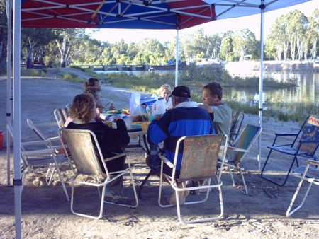 Breakfast at Lock 7.