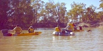 Ascertaining position on the Darling River.