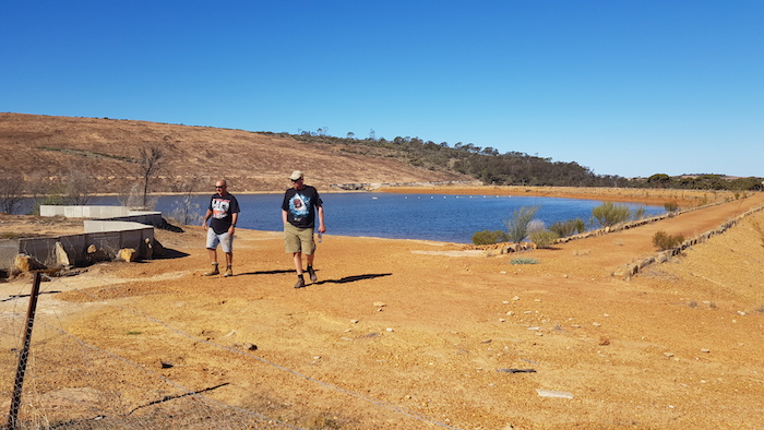 Joe and Matt at Roe Dam.