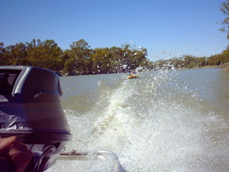 On the Murray River after Ropella Rocks.