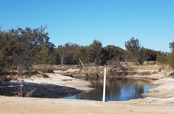 The outfall of the Yenyenning Lakes into the Avon River.