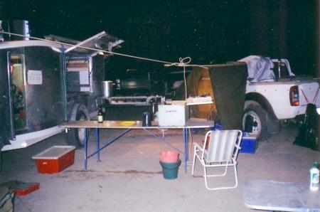 Overnight camp at Mulcra Island.