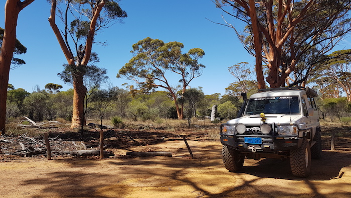 Troopy at The Humps.