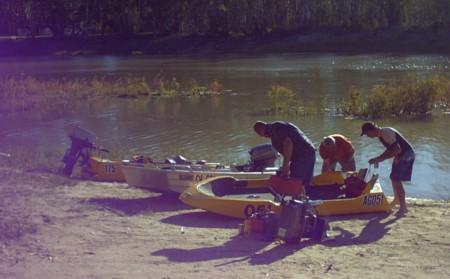 Boat maintenance at Lock 7.