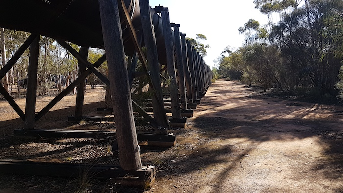 Flume supports at Karalee