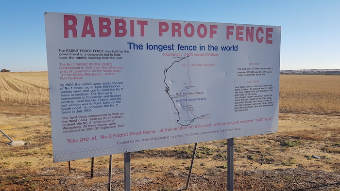 The longest fence in the world.