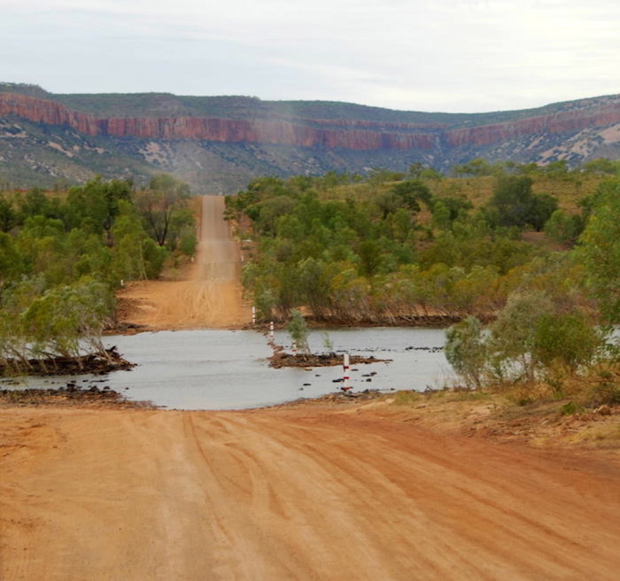 Pentecost River crossing, Gibb River Road, with the Cockburn Ranges as a backdrop.