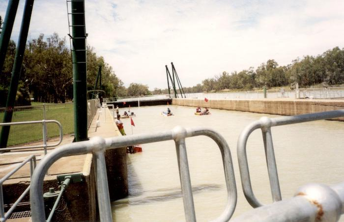 Inside Waikerie Lock (Lock 2).